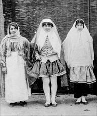 مقاله پوشش مردان و زنان دوره قاجار
