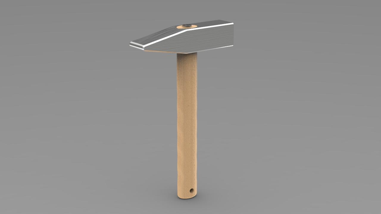چکش (Hammer)طراحی شده در نرم افزار سالیدورک