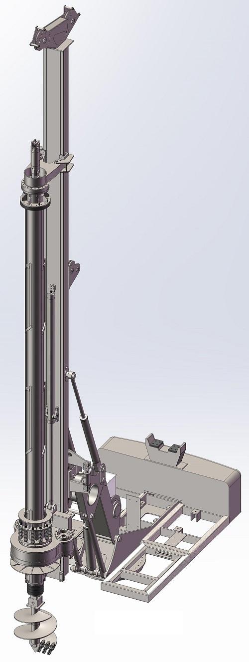 طراحی ماشین حفاری در نرم افزار Solidworks