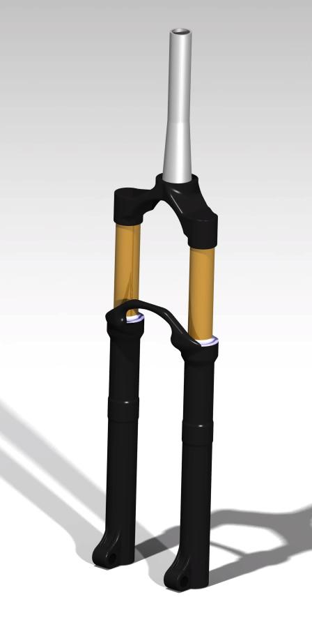 طراحی و شبیه سازی کمک جلو دوچرخه ، در نرم افزار کتیا