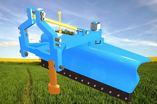 طراحی و شبیه سازی ابزار کشاورزی(grader blade tesviye)، در نرم افزار کتیا