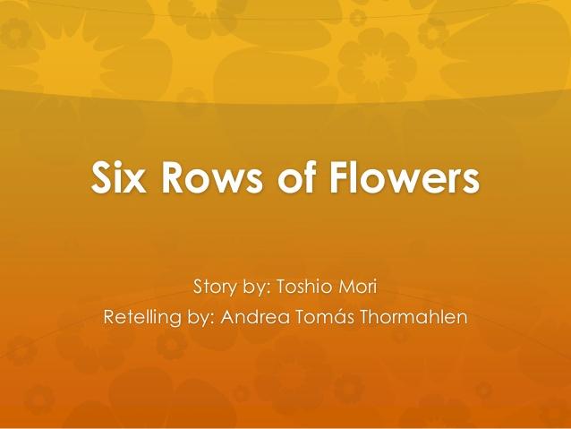 شش ردیف از گُلهای کوکب The Six Rows of Pompons